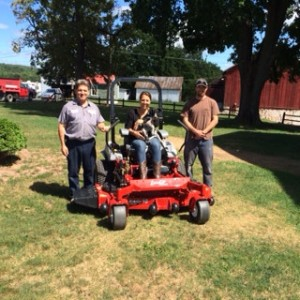 As the grand prize winner of the 2014 Beautiful Places contest, Kate James will mow in style on a new top-of-the-line Exmark Lazer Z X-Series mower.