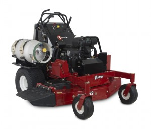 The Vantage S-Series Propane joins Exmark's existing EFI propane Lazer Z and Turf Tracer models.