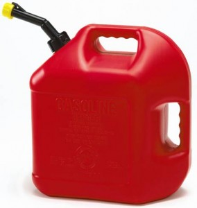 Gasoline can for lawn mower