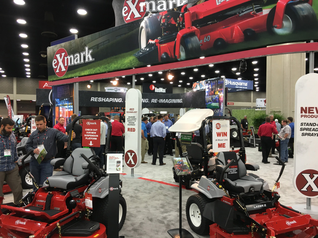 Exmark booth at GIE+EXPO 2015.