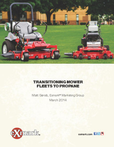 Exmark Transitioning Mower Fleets to Propane white paper