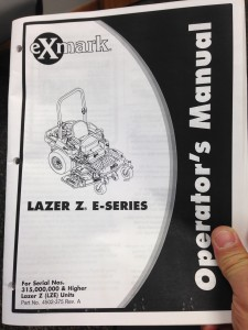 Exmark Owner's Manual