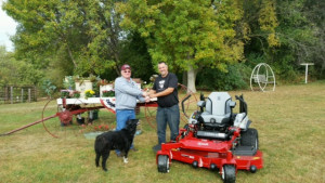 Exmark mower delivery