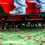 Core aeration for lawn recovery