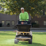Exmark Spreader-Sprayer for lawn recovery