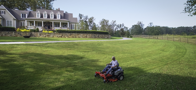 Exmark quest Professional-grade residential mower cutting a large lawn