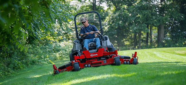 The benefits of diesel mowers like the Lazer Z diesel include power to mow large areas quickly